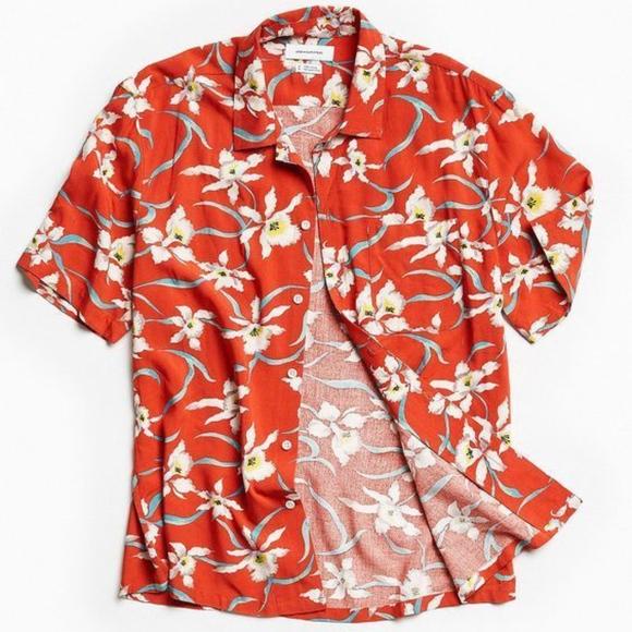 Men Hawaiian Shirt Cruise Tropical Luau Beach Aloh